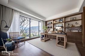 精美中式书房装修实景图片欣赏样板间中式现代家装装修案例效果图