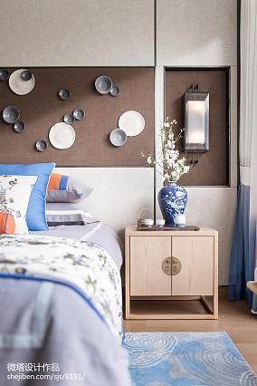 精选中式卧室装修设计效果图片欣赏样板间中式现代家装装修案例效果图