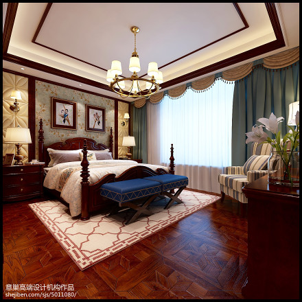 欢喜美式情怀卧室