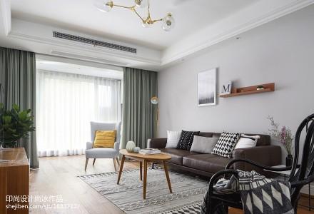 热门107平方三居客厅北欧实景图