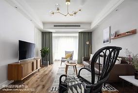 精美95平米三居客厅北欧装修设计效果图三居北欧极简家装装修案例效果图