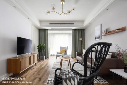 精美95平米三居客厅北欧装修设计效果图