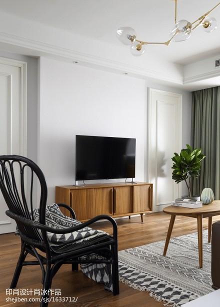 2018面积109平北欧三居客厅装修效果图片欣赏