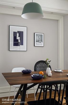 平米三居餐厅北欧设计效果图三居北欧极简家装装修案例效果图