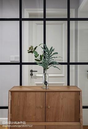 面积100平北欧三居玄关设计效果图三居北欧极简家装装修案例效果图
