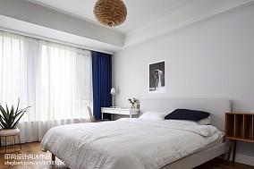 热门99平米三居卧室北欧效果图片大全三居北欧极简家装装修案例效果图