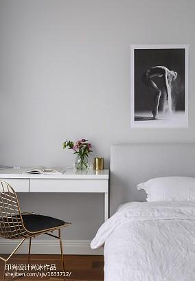 精美109平米三居卧室北欧装修欣赏图片大全三居北欧极简家装装修案例效果图