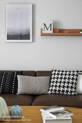 2018面积90平北欧三居客厅实景图片大全三居北欧极简家装装修案例效果图