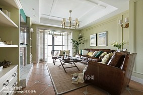 宽敞美式客厅装修图片