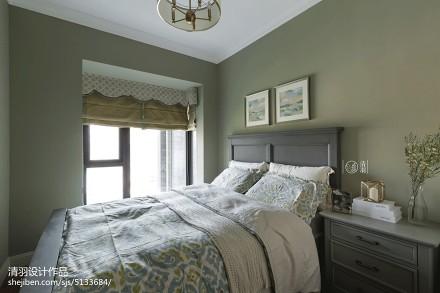 优雅84平美式三居卧室装饰图卧室
