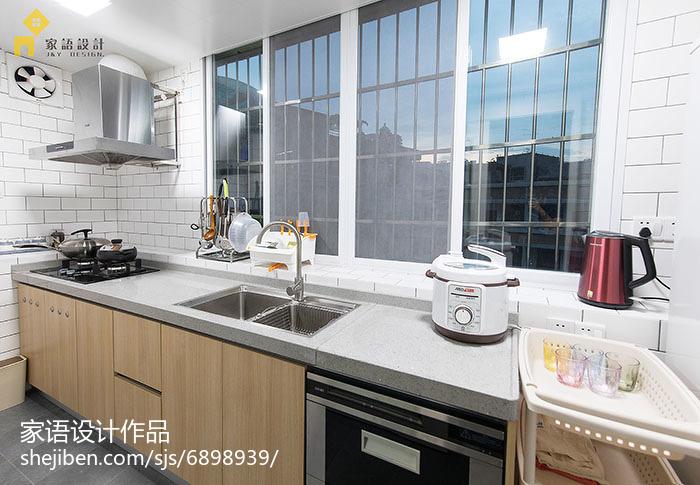 75平米日式小户型厨房装修实景图片欣赏餐厅日式厨房设计图片赏析