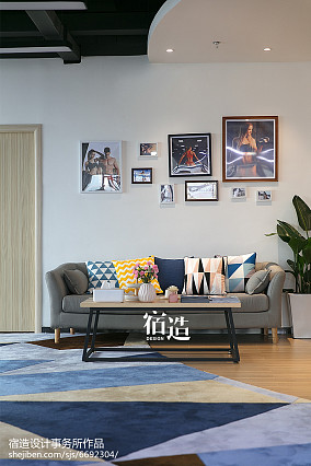 fitness私教中心休息区设计图201-500m²家装装修案例效果图