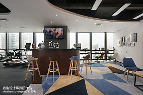 fitness私教中心吧台设计图201-500m²家装装修案例效果图