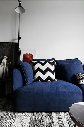 热门面积75平小户型客厅北欧装修设计效果图片