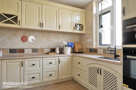 典雅49平地中海复式厨房案例图餐厅