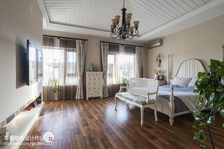 悠雅59平地中海复式卧室效果图片大全客厅