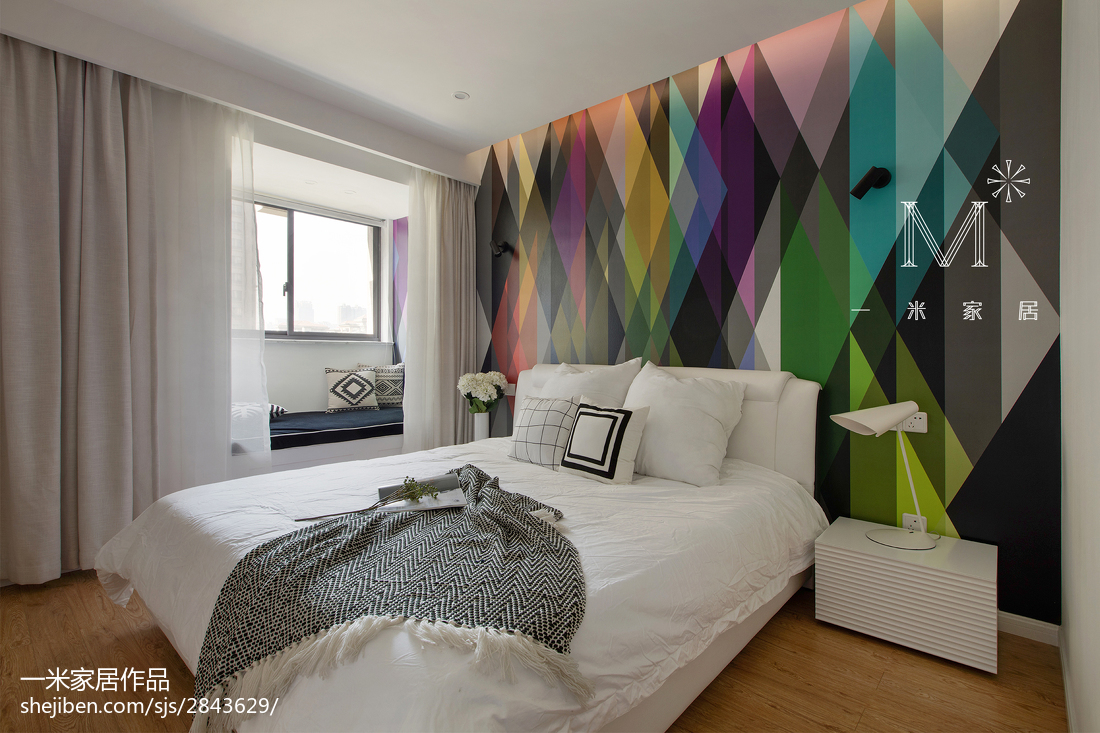 热门面积101平北欧三居卧室装修设计效果图片欣赏卧室木地板北欧极简卧室设计图片赏析