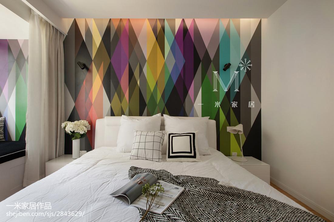 2018精选90平米三居卧室北欧效果图卧室北欧极简卧室设计图片赏析