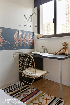 平米三居卧室北欧装修实景图片欣赏三居北欧极简家装装修案例效果图