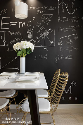 热门105平米三居餐厅北欧实景图片大全家装装修案例效果图