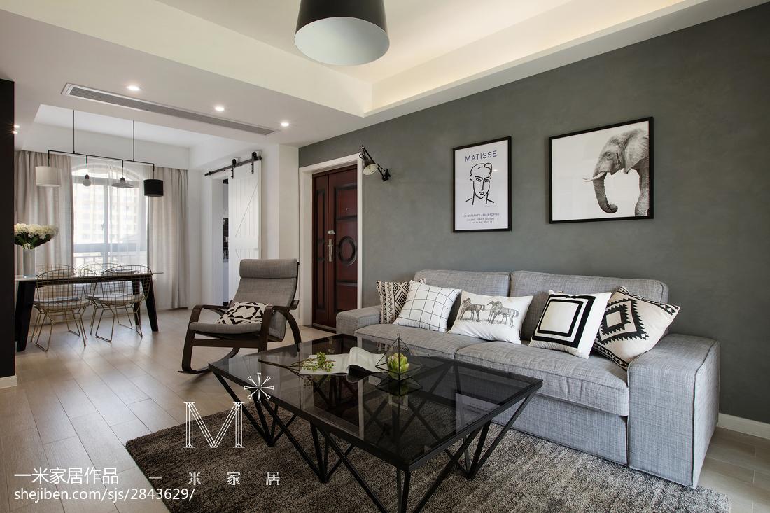 热门面积94平北欧三居客厅装修设计效果图片大全客厅木地板北欧极简客厅设计图片赏析