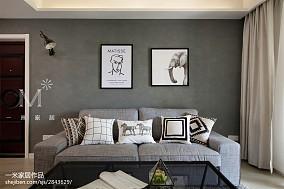 热门91平米三居客厅北欧装修设计效果图片欣赏三居北欧极简家装装修案例效果图