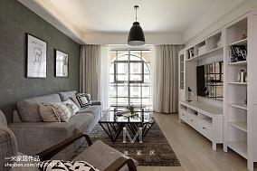 面积95平北欧三居客厅装修效果图片欣赏三居北欧极简家装装修案例效果图