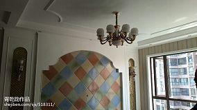 简约美式客厅木地板效果图