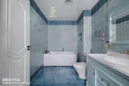 优雅60平美式复式卫生间案例图卫生间