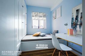 热门90平米二居卧室混搭装饰图片二居潮流混搭家装装修案例效果图