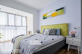 精美面积81平混搭二居卧室装饰图二居潮流混搭家装装修案例效果图