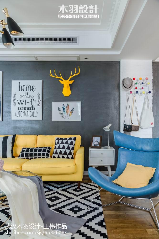 精美面积86平混搭二居客厅欣赏图片卧室