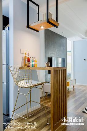 惬意混搭吧台设计图片二居潮流混搭家装装修案例效果图