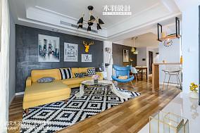 特色混搭客厅装修效果图二居潮流混搭家装装修案例效果图
