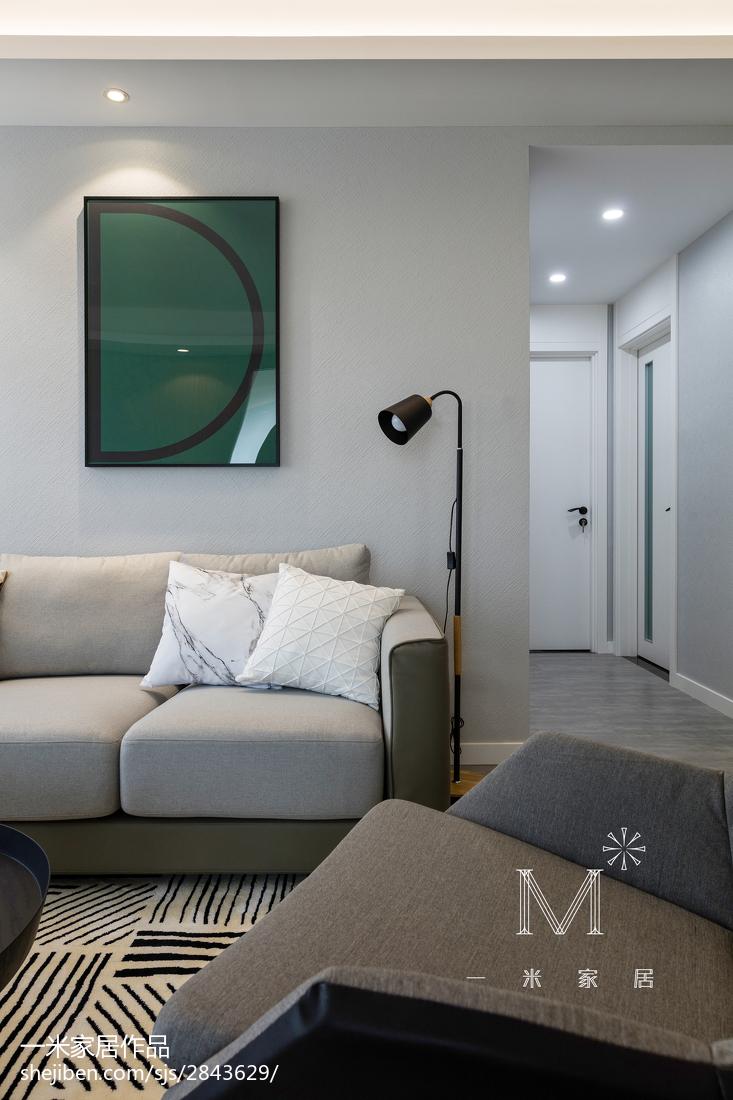 悠雅80平北欧三居装修设计图三居北欧极简家装装修案例效果图