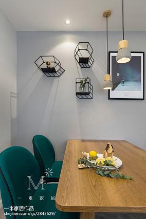 2018精选面积99平北欧三居餐厅装饰图片欣赏三居北欧极简家装装修案例效果图