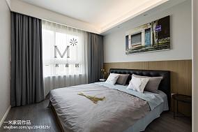 2018精选100平米三居卧室北欧装修设计效果图片大全三居北欧极简家装装修案例效果图