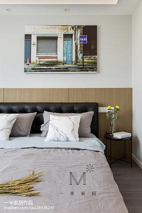 精选97平米三居卧室北欧装修效果图片三居北欧极简家装装修案例效果图