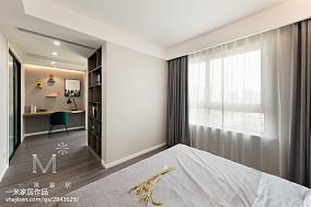 精选面积104平北欧三居卧室设计效果图三居北欧极简家装装修案例效果图