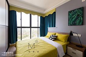华丽80平北欧三居卧室设计案例三居北欧极简家装装修案例效果图