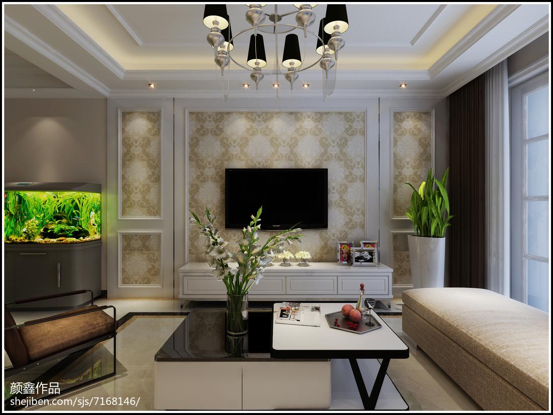 2018精选三居客厅欧式装修效果图片三居欧式豪华家装装修案例效果图
