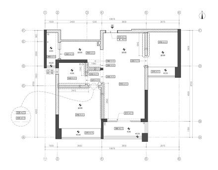 精美90平现代二居装潢图