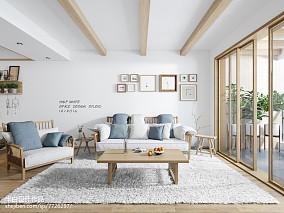 热门日式二居客厅装修设计效果图片大全