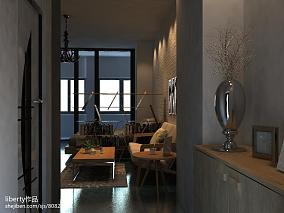 现代风格小户型玻璃电视背景墙效果图