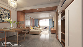 2018精选面积103平简约三居客厅装饰图片