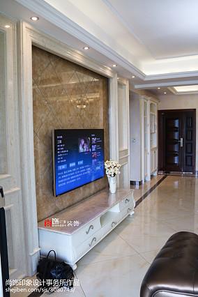 热门面积100平欧式三居客厅装修效果图