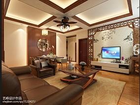 精选面积83平中式二居客厅装修欣赏图