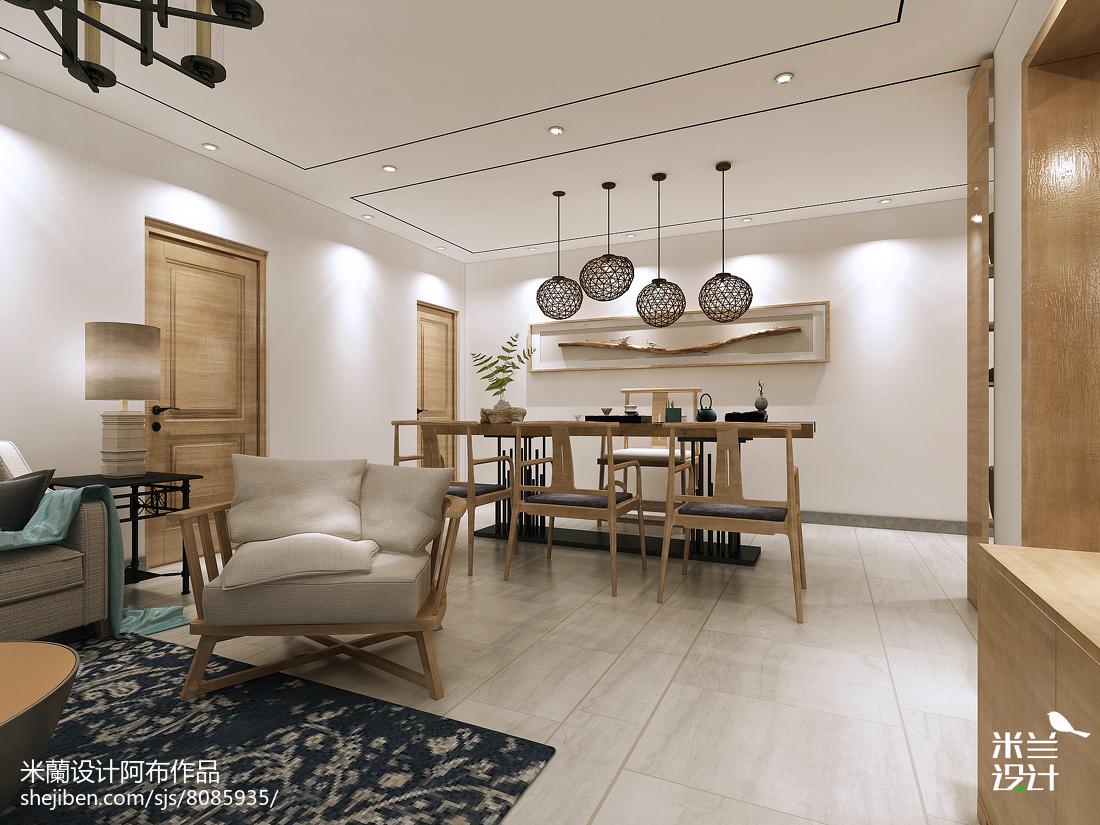 2018精选面积88平中式二居客厅欣赏图片大全121-150m²二居中式现代家装装修案例效果图
