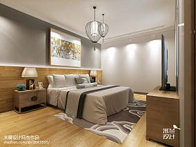 2018精选77平米二居卧室中式装饰图片大全121-150m²二居中式现代家装装修案例效果图