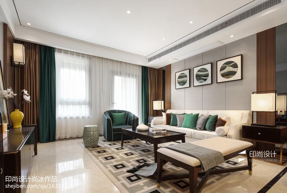 新中式实木家居客厅装修效果图中式现代设计图片赏析